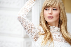 Gorgeous Highlights and Full Bangs